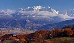 Le massif du Mont Blanc (Haute Savoie - France) (B. Coudray... Bienvenue et merci...) Tags: mountain alps montagne alpes automne savoie alpi 74 montblanc hautesavoie combloux rhonealpes