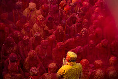 Interrupted (Harshal Orawala) Tags: india barsana 121clicks colours festival red yellow