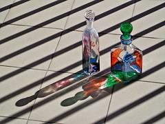 """OMBRE - """" EXPLORE """" (cannuccia) Tags: ombre bottiglie righe linee diagonali colori vetri riflessi virgiliocompany due"""