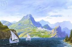 Sailing to Valinor (brianaudano) Tags: silmarillion tolkien aman valinor valimar undyinglands eldar whiteships taniquetil