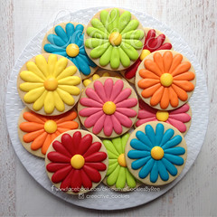 FlowerBabyShowerDaisies (cREEative_Cookies) Tags: baby shower babyshower cookies harry potter elephant chic birds mason jar lace delicate flower sports its boy girl blessed baptism crib teddy bear kokeshi dolls sunshine clouds happy flowers girly boyish sugar edible art theme custom royal icing baked adorable roses daisies fondant booties shoes onesies bibs personalized sugarveil