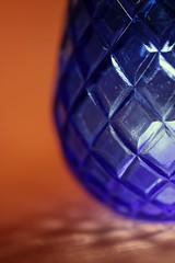 Orange and Blue (Crisp-13) Tags: orange blue glass vase diamond orangeandblue