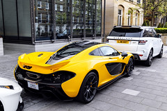 1991 (Reece Garside | Photography) Tags: mclaren mclarenp1 p1 british supercar summer spotter sun street car canon canon6d 6d hypercar history rare london yellow volcanoyellow knightsbridge mayfair