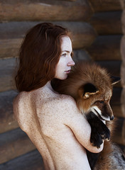Totem (alexandra_bochkareva) Tags: redhead red freckles freckled gold girlish girl ginger fox totem