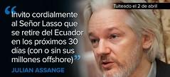 "Assange invita al opositor Lasso a ""retirarse"" de Ecuador (conectaabogados) Tags: assange ecuador invita lasso opositor retirarse"