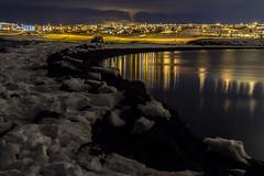 Geldinganes, Eiðið og Grafarvogur (icecold46) Tags: iceland reykjavik eiðið grafarvogur næturmyndataka nightphotographing tímataka timephotographing snjór snow