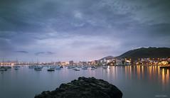 Dawn in Ancon (Ancon0031) Tags: ancon sunrise lights peru lima playahermosa bluehour lightburst bahiadeancon fog dawn