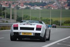 Lamborghini Gallardo Spyder (D's Carspotting) Tags: lamborghini gallardo spyder france offrethun grey 20100613 n4lgt le mans 2010 lm10 lm2010