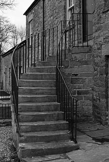 Elegant curve of steps