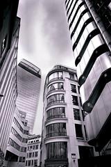 Lloyd's Building with Walkie Talkie in background (jim_2wilson) Tags: lloydsbuilding lloydsoflondon london sonya99 minolta1735mmf28 wideangle bw architecture