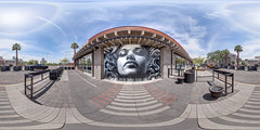 """La Medusa"" by El Mac and David Choe in Phoenix, Arizona (@TanjaB) Tags: 360photography 360panorama vrimaging elmac davidchoe phoenixaz lamedusa equirectangular rooseveltrowartsdistrict vr"