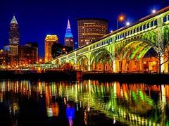 jicky's_after_dark (gerhil) Tags: landscape urban night city architecture water river bridge lights reflection downtown longexposure color light spring april2017 nikcolorefexpro4 shimmer mood