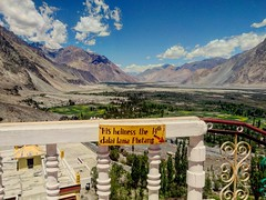 The pulchritudeness of diskit valley !  Location: Diskit valley (ladakh, India) (vikasrebel) Tags: himalayas nature monastery buddhism buddha peace valley hills mountains sky sun people