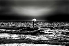SUP at sunset - Tel-Aviv beach (Lior. L) Tags: supatsunsettelavivbeach sup sunset telaviv beach supatsunset telavivbeach monochrome blackandwhite blackwhite surfing surfer surf sky israel travelinisrael