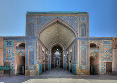 Jameh Mosque of Yazd, Iran (Calim*) Tags: architecture iran islam muslim mosque religiousarchitecture yazd