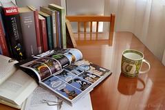 Día 20: Lo que leo (Chuss Chulián) Tags: libros books livres bücher lessen reading leer lectura sandman neil gaiman virginia woolf marvel xmen dickens