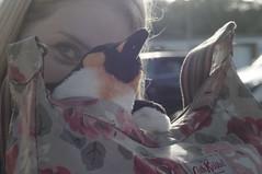 Charlie and a Penguin (pigpogm) Tags: mxpp photography bag cathkidston charlie peekaboo penguin woman plushy voigtlander40f14