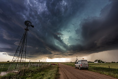 A Stormchaser and his storm. (ryanmcginnisphoto) Tags: storm chaser chasing sky weather severe oklahoma rural