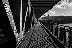 can't see the forest for the trees / beautiful day (Özgür Gürgey) Tags: 2017 20mm bw d750 hamburg nikon oberhafenbrücke voigtländer architecture geometry lines repetition street vanishingpoint
