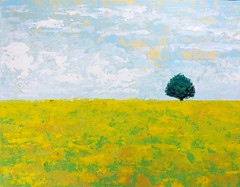 Primavera 2017 (Japo García) Tags: campodifiori campodeflores árbol uno pintura cuadro japo acrílico espátula cielo pintar arte amarillo azul nubes flores primavera