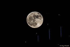 Supermoon Rising [5DS09219] (Roy Prasad) Tags: moon supermoon moonrise bridge prasad royprasad california sanfrancisco baybridge oakland water reflection silhouette