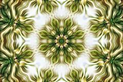 Green pattern  ( seen in explore ) (Palmsgb) Tags: green kaleidescope pattern