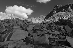 Day 25 of 40; #3 unnamed peak (photography by Derek G) Tags: wilderness blackandwhite mountain highsierra talus rocks cloud rugged light shadow landscape anseladams yosemite