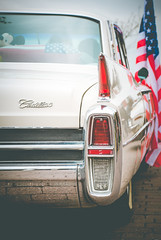 Rear View (Pixelglo Photography) Tags: cadillac car classiccar vintage american usa motor taillights light flag starsandstripes