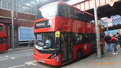 P1490420 2532 SN66 WRV at Waterloo Station Waterloo Road Waterloo London (LJ61 GXN (was LK60 HPJ)) Tags: ctplus hackneycommunitytransportgroup enviro400hybrid enviro400h enviro400hhybrid enviro400city enviro400hcity enviro400hhybridcity enviro400hybridcity e400h city 2532 sn66wrv g45911