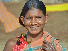 2016-11b Orissa's Ethnic Mosaic (69) (Matt Hahnewald) Tags: ©matthahnewaldphotography facingtheworld photography photo image faceperception physiognomy psychological favourite superior excellent nikond3100 nikkorafs50mmf18g primelens 50mmlens 43aspectratio horizontalformat street portraiture portrait closeup headshot fullfaceview bokeh outdoor sunshine highnoonsun sunlight harshnoonsun colour colourful cultural character personality realpeople humanhead humanface humaneyes smilingeyes nose teeth facialexpression eyecontact tribalhairstyle bareheaded consent empathy rapport respect encounter fun ethnicportrait travelportrait tribal villager adivasi koraput orissa eastindia oneperson adult maturewoman posing smiling beautiful cheerful goldearrings nosestuds parab2016 pallishreemela parojatribe sidebun tribalmarket nosepiercing