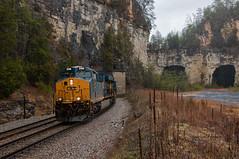 Mullins Tunnels (Wheelnrail) Tags: csx ge cc subdivision train trains locomotive railroad kentucky south crooked hill hazel patch berea mullins tunnel rain searchlights