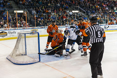 "Missouri Mavericks vs. Wichita Thunder, March 25, 2017, Silverstein Eye Centers Arena, Independence, Missouri.  Photo: © John Howe / Howe Creative Photography, all rights reserved 2017. • <a style=""font-size:0.8em;"" href=""http://www.flickr.com/photos/134016632@N02/33571550191/"" target=""_blank"">View on Flickr</a>"