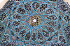 Tomb of Hafez ceiling (Wild Chroma) Tags: hafez tomb shiraz iran persia ceiling mosaic