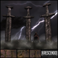 [Kres] Kattegat Sword Statues ([krescendo]) Tags: 25ltuesdays 25tuesday 25l sworddecor giantstatues outdoordecorations roleplay fantasy gorean warrior warriors vikings viking kres krescendo