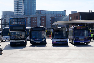 Test day for the new bus station at The Hard, Portsmouth Harbour, March 27th 2017