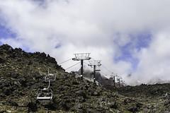 Journey into the Clouds (- Jan van Dijk) Tags: tongarironationalpark manawatuwanganui newzealand nz journey volcano stratovolcano mountruapehu ruapehu wolken clouds whakapapa volcanic rocky rocks chairlift travel viagi holiday vulkaan