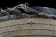 Old Hat (MikeWeinhold) Tags: macromondays clothtextile redsox hat fray cloth cap baseball speedlite430exii softbox 6d 100mm macro