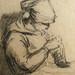 MILLET Jean-François - Couseuses, Etude (drawing, dessin, disegno-Louvre RF243) - Detail 29