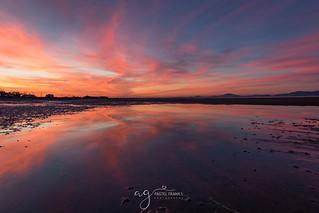 incredible sunset at the Annagassan Beach
