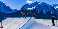 Angus_Drake_XL360 (rowan.cotton) Tags: snow skiing snowboarding lakelouiseskiresort lakelouise winter jumps backflip mountains