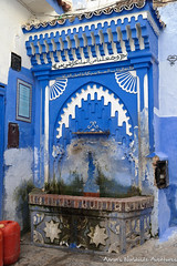 A public water fountain in Chefchaouen Medina (adventurousness) Tags: bluecity chefchaouenthebluepearl thebluecity blue chaouen chefchaouen morocco travel fountain