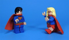 You Forgot to Take off Your Glasses (MrKjito) Tags: lego minifig super hero comics comic superman supergirl clark kent cara danvers house el hope cousins