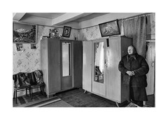 (Jan Dobrovsky) Tags: countryside leicaq countrylife leica ukraine people portrait monochrome blackandwhite volyn indoor village document interior house wooden