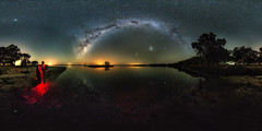 Island Point Reflections (Astronomy*Domine) Tags: astro astrophotography astronomy photosphere photographingspace nightscape milkyway vr 360 equirectangular reflection water lake island point mandurah perth westernaustralia samyang 14mm canon 6d