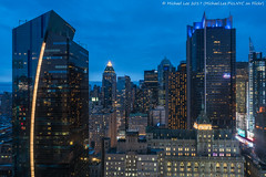 Blue Hour View Above Times Square (20170422-DSC00182-Edit) (Michael.Lee.Pics.NYC) Tags: newyork aerial hotelview hiltontimessquare architecture cityscape night twilight bluehour westin astorplaza newyorktimes yahoo worldwideplaza carterhotel rooftops midtownmanhattan sony a7rm2 zeissloxia21mf28