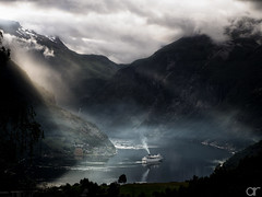 Glorious Departure (A.Reef) Tags: geiranger fjord norway departure ship light