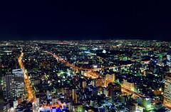 Nagoya's night (Clonedbird 克隆鳥 & Iris 艾莉絲) Tags: 名古屋 名古屋駅 名古屋車站 日本 愛知縣 jr なごやえき nagoya eki jr中央塔 なごや jr東海 名鐵 夜景