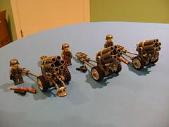 Lego custom Nebelwerfer 41 (tekmoc17) Tags: lego custom moc ww2 canon nebelwerfer brick german soldier minifigure
