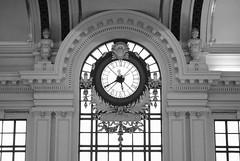 Train station clock (jc1305us) Tags: nikon blackandwhitephotography njtransit lackawanna newjersey architecture beauxarts clock trainstationclock