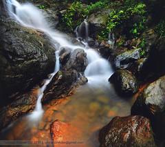 Flowing Smokes (Tanmay Shikder) Tags: fall waterfalls water nature green rock rocks flow long longexpo longexposure bangladesh rainy sand tree art